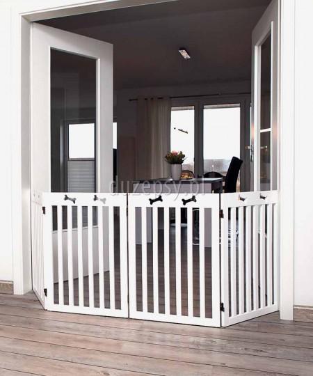 Duża barierka zabezpieczająca drzwi lub schody dla psa Trixie wys. 75 cm