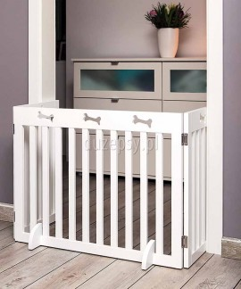 Barierka - bramka zabezpieczająca drzwi lub schody dla małych i średnich psów Trixie wys. 61 cm