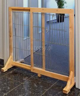 Wysoka barierka zabezpieczająca drzwi lub schody dla dużego psa Trixie wys. 75 cm