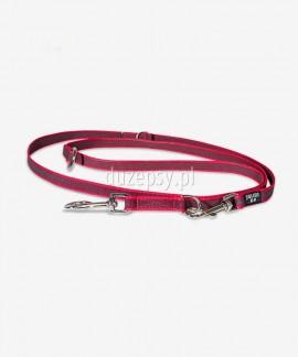 Smycz dla psa regulowana z taśmy gumowanej Julius-K9 ® czerwona, 220 cm