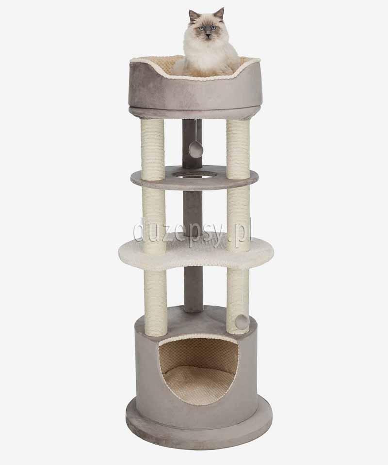 80f2c8d347043d Wysoki drapak dla kota z domkiem i legowiskiem LAVINIA Trixie wys. 139 cm.  Loading zoom. Najedź kursorem, by powiększyć. Poprzedni. Wysoki drapak dla  kota ...