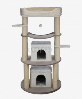 Drapak dla dwóch kotów z legowiskiem i domkami Trixie NORA wys. 158 cm