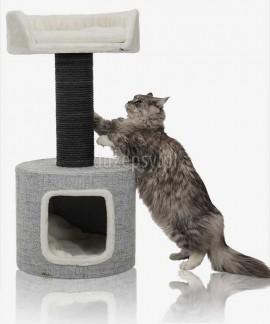 Drapak dla dużego kota z domkiem i legowiskiem FONDA Trixie XXL