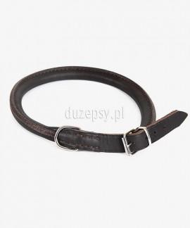 Obroża dla psa długowłosego z okrągłej skóry zapinana Dingo 55-65 cm