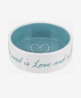 Miska ceramiczna dla psa Pet's Home Trixie, turkusowa