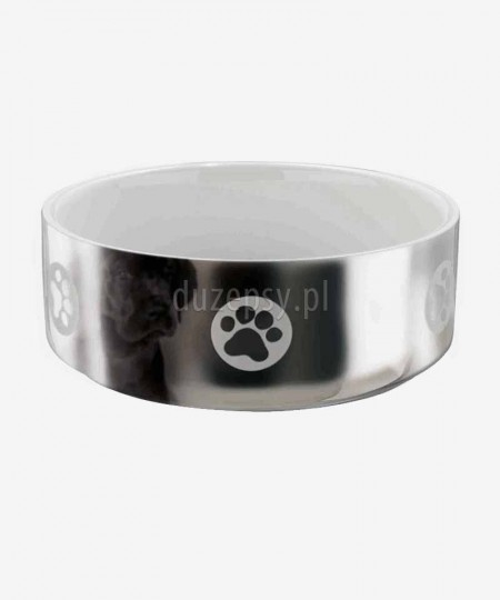 Miska ceramiczna dla psa Trixie, srebrno-biała