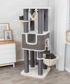 Duży drapak dla kota z domkiem i hamakiem HUMBERTO XXL Trixie wys. 174 cm
