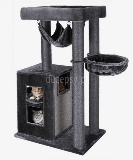 Drapak dla dużych kotów z domkiem i hamakiem AMADEUS XXL Trixie wys. 163 cm
