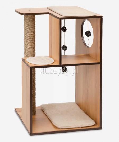 Drapak dla kota drewniany z wysokim słupkiem Catit Vesper Box Large wys. 76 cm
