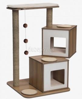 Ekskluzywny drapak dla dwóch kotów drewniany Catit Vesper Double wys. 103,5 cm