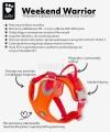 Hurtta szelki dla średniego psa sportowe Weekend Warrior ECO 60-80 cm