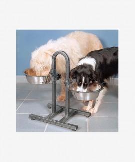 Metalowe miski dla dużego psa na regulowanym stelażu 2 × 2.8 l