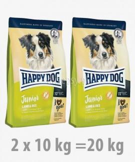 Happy Dog Junior Lamb & Rice karma dla młodych psów dużych i średnich ras 20 kg