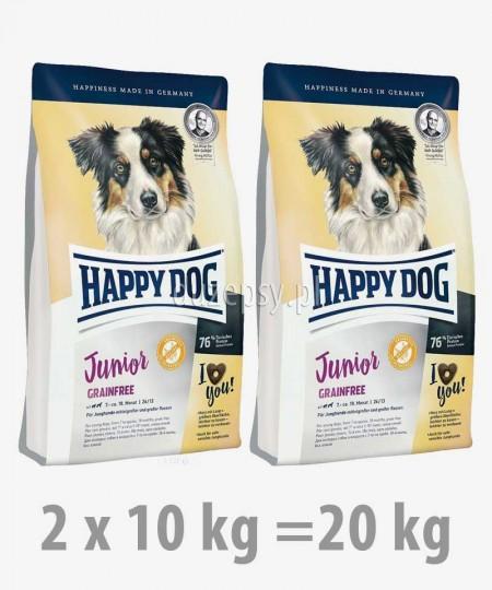 Happy Dog Junior Grainfree karma dla wrażliwych szczeniąt dużych i średnich ras 1 kg