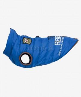 Kurtka zimowa ubranko dla psa z szelkami Saint-Malo Trixie niebieska