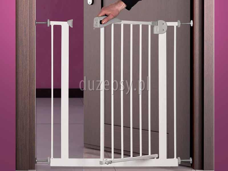 Bramka zabezpieczająca rozporowa barierka dla dużego psa Trixie. Bramka zabezpieczająca dla psa, rozporowa barierka dla dużego psa, barierki ochronne dla psa, barierka zabezpieczająca na schody, bramki do drzwi, bramki dla psa Trixie, bramka na schody bez wiercenia, sklep zoologiczny, akcesoria dla psów, duzepsy.pll