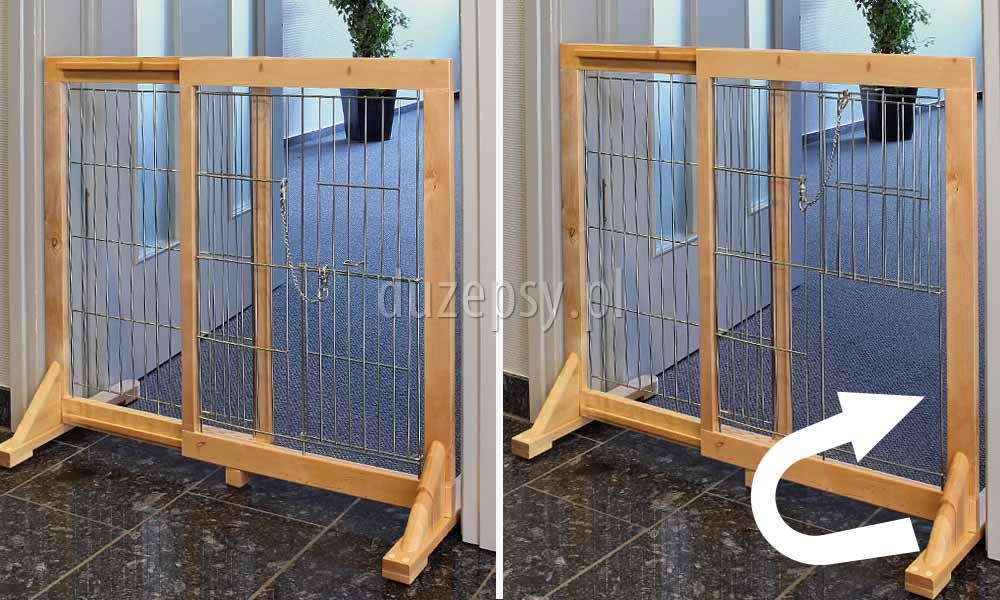 Wysoka barierka w drzwi, barierka zabezpieczająca drzwi dla dużego psa, duża barierka zabezpieczająca drzwi lub schody dla psa; bramka zabezpieczająca dla psa; rozporowa barierka dla dużego psa; barierki ochronne dla psa; barierka zabezpieczająca na schody; bramki dla psa Trixie; bramka na schody bez wiercenia; sklep zoologiczny; akcesoria dla psów; duzepsy.pll