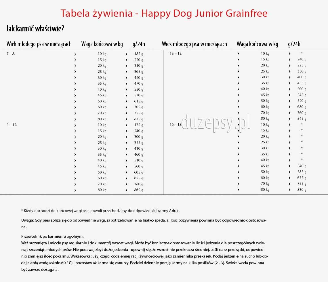 Karma dla psa juniora dużej rasy, karma dla psa 8 miesięcy, karma dla młodych psów dużych ras, happy dog junior original