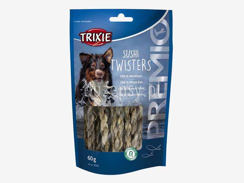 Trixie Premio sushi dla psa; przysmaki dla psów z Omega 3 i Omega 6; zdrowe przysmaki dla psa; przysmaki dla psa z suszonym mięsem ryb; smakołyki dla psów; poczęstunki dla psa; przysmaki Trixie dla psa; sklep zoologiczny; DuzePsy.pl