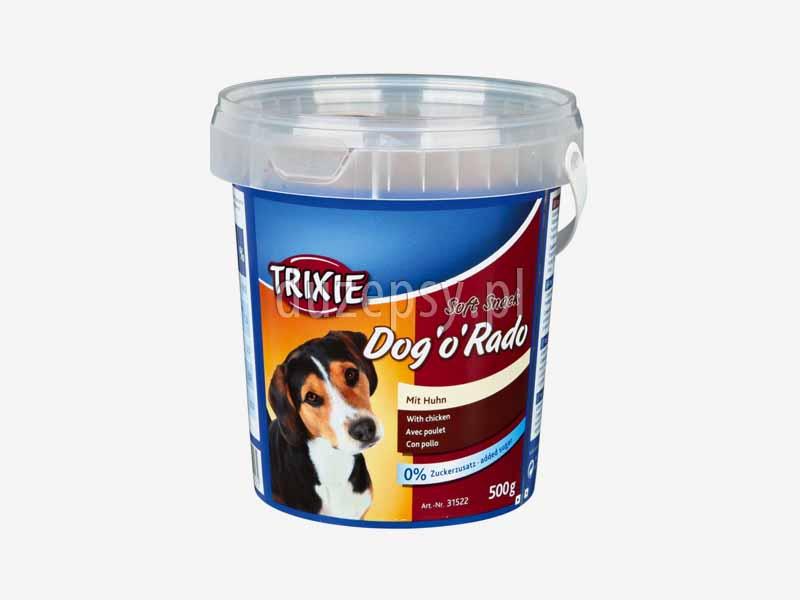 Przysmaki dla psa Trixie Dog o Rado 500 g; przysmaki do szkolenia psa; poczęstunki dla psów na szkolenie; przysmaki warzywne dla psów; poczęstunki dla psa; poczęstunki dla psów; przysmaki dla psa do gryzienia; sklep zoologiczny; DuzePsy.pl