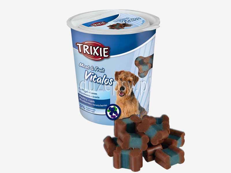 Vitalos mięso i owoce przysmaki dla psa; przysmaki z suszonym mięsem kurczaka dla psów; przysmaki dla psa do szkolenia; poczęstunki dla psów na szkolenie; przysmaki dla psów; poczęstunki dla psa; poczęstunki dla psów; przysmaki dla psa do gryzienia; sklep zoologiczny; DuzePsy.pl