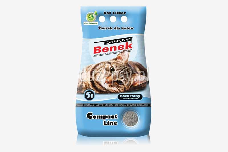 Super Benek Compact Naturalny żwirek dla kotów zbrylający. Żwirki dla kotów tanio. Żwirek dla kota zapachowy. Sklep zoologiczny internetowy DuzePsy.pl