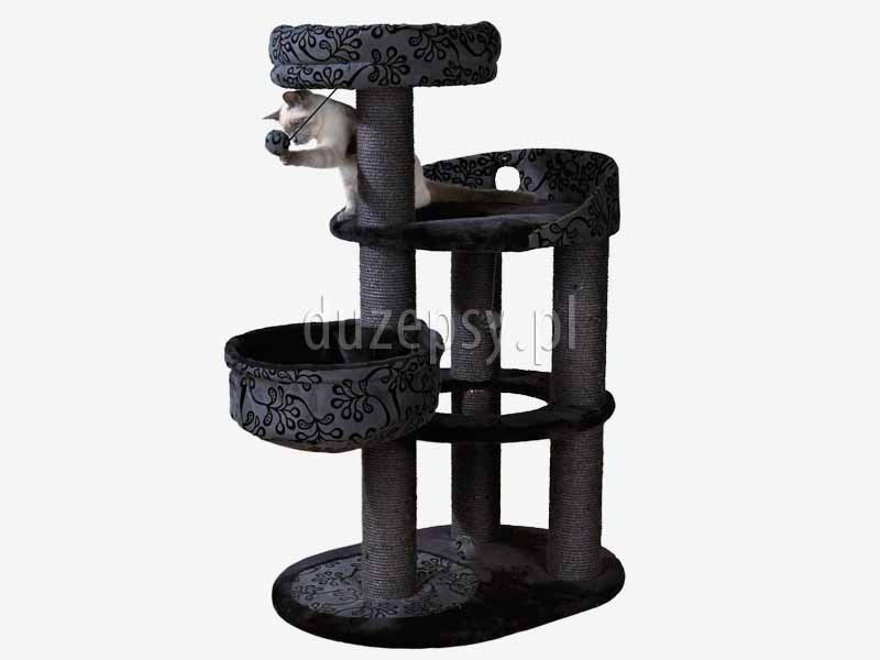 Ekskluzywny drapak dla kota, drapak dla kota czarny, elegancki drapak dla kota; drapak dla dwóch kotów, drapaki dla kota sklep; legowisko dla kota z drapakiem; drapak dla kota sklep internetowy; drapaki dla kota Trixie; drapaki z sizalu; drapaki dla kotów sklep online; sklep zoologiczny; duzepsy.pl; drapaki Trixie; akcesoria dla kotów