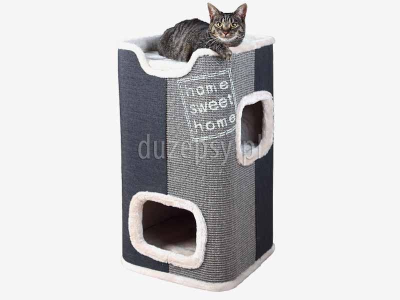 nowoczesny drapak dla kota; drapak dla kota z domkiem; drapak dla kota szary, drapak dla kota wieża; elegancki drapak dla kota; domek dla kota z drapakiem Trixie; drapaki dla kota; domek dla kota; legowisko dla kota z drapakiem, drapak dla kota maine coon; drapak dla kota sklep internetowy; drapak dla kota Trixie; drapaki z sizalu; drapaki dla kotów sklep online; drapak dla kota ragdoll; sklep zoologiczny; duzepsy.pl; drapaki Trixie; akcesoria dla kotów