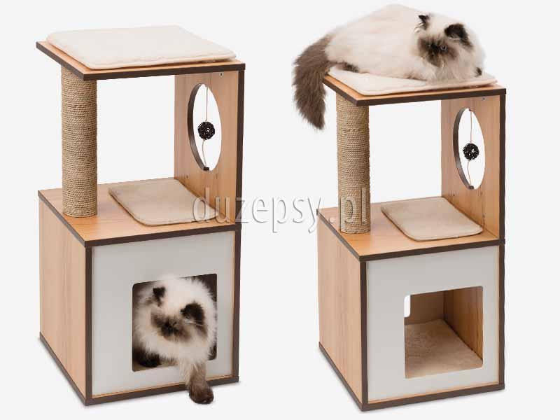 Elegancki drapak dla kota z domkiem drewnian, drapak dla kota drewniany; drapak dla kota z domkiem; drapak dla kota z trawy morskiej; drapaki dla kota sklep; drapaki dla kotów; drapak dla kota ragdoll; drapak dla małego kota; drapak dla kota 70cm; drapaki dla kota sklep internetowy; sklep zoologiczny duzepsy.pl;
