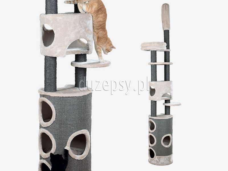 Drapak dla kota sufitowy, drapak dla kota do sufitu Trixie; drapak dla kota 270 cm; wysoki drapak dla kota; drapak dla dwóch kotów; drapak dla kota z domkiem; drapak dla kota mocowany do sufitu; drapak dla kota maine coon; drapak dla kota norweskiego; drapak dla kota szary, elegancki drapak dla kota; drapak dla kota sklep internetowy; drapak dla kota sufitowy; drapaki dla kotów sklep online; drapaki dla kotów; sklep zoologiczny; hurtownia zoologiczna; duzepsy.pl; drapaki Trixie