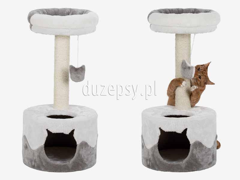 Elegancki drapak dla kota z domkiem i legowiskiem NURIA Trixie wys. 71 cm. Drapak dla kota z domkiem; drapak dla kota z legowiskiem; ekskluzywny drapak dla kota; drapak dla kota z domkiem; drapaki dla kotów sklep; domek dla kota z drapakiem Trixie; drapak dla kota nowoczesny; domek dla kota; legowisko dla kota z drapakiem; drapak dla kota sklep internetowy; drapak dla kota Trixie; drapaki z sizalu; drapaki dla kotów sklep online; drapak dla kota zamek; sklep zoologiczny; hurtownia zoologiczna; duzepsy.pl; drapaki Trixie; akcesoria dla kotów