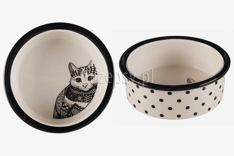 Miska ceramiczna dla kota biała Trixie ø 16 cm, miska ceramiczna dla kota Trixie; miski dla kota trixie; miska dla kota brytyjskiego; miski ceramiczne dla kota tanio; ładne miski dla kotów; designerska miska dla kota; ekskluzywne akcesoria dla kotów; tanie miski dla kota; miski dla kotów zestaw; elegancka miska dla kota; miski dla kota sklep; sklep zoologiczny online; duzepsy.pl