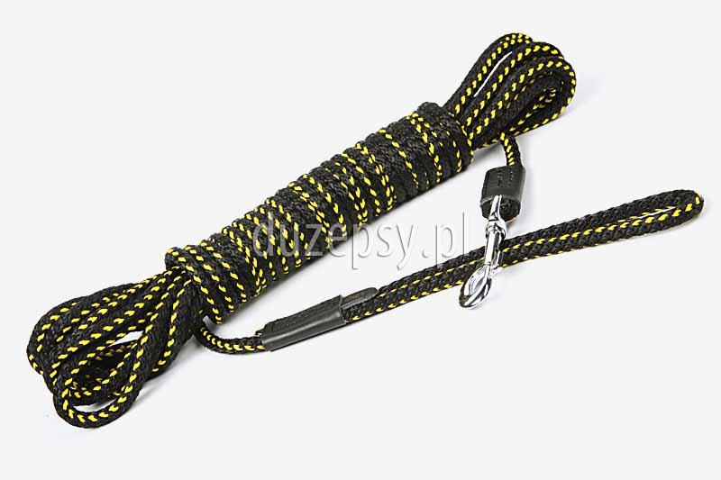 Linka treningowa do szkolenia psa na ślad z uchwytem. Linka treningowa dla psa 20 m. długa smycz treningowa dla psa. Linka do szkolenia psa 10m. Linki treningowe dla psów oferuje sklep zoologiczny DuzePsy.pl