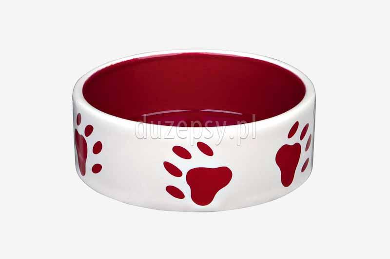 Miska ceramiczna dla psa Trixie; ładne miski dla psów; miska dla psa King of Dogs; eleganckie miski dla psów; miska dla yorka; ceramiczna miska dla psa; akcesoria dla psów; miski ceramiczne dla psów; czerwona miska dla psa