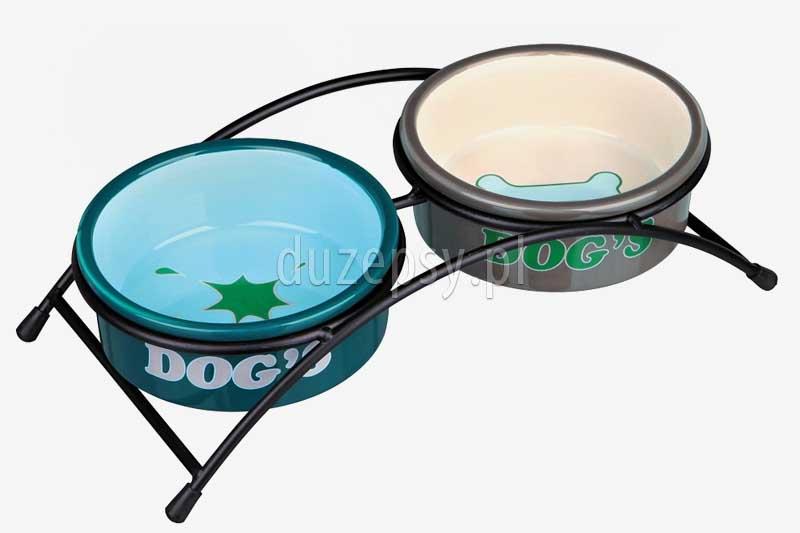miski ceramiczne na stelażu dla psa; miska ceramiczna dla psa Trixie; miski porcelanowe dla psów; eleganckie miski dla psów; miska porcelanowa dla psa; ceramiczna miska dla psa; akcesoria dla psów; zestaw misek ceramicznych na stojaku, miski na stojaku dla psa, miski ceramiczne dla psów; sklep zoologiczny; DuzePsy.pl