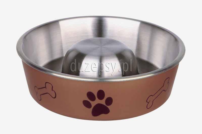 Miska dla łapczywego psa spowalniająca jedzenie Trixie. miska dla psa spowalniająca jedzenie; miska dla łapczywego psa stal; miska dla łapczywych psów; miska dla łakomego psa; miska dla psa z wypustkami; miska metalowa dla psa Trixie; miski dla psa sklep, miska dla psa tanio; miska plastikowa dla dużego psa; miski dla psów metalowe; tanie miski dla psa; sklep zoologiczny; hurtownia zoologiczna; DuzePsy.pl; artykuły dla zwierząt sklep; akcesoria dla psów