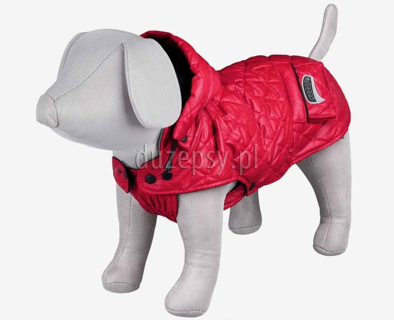 Kurtka zimowa dla małego psa z odpinanym kapturem SILA Trixie. Kombinezon dla psa. Ubranka dla psów. Płaszczyk dla psa. Kurtka dla yorka. Ubranko dla psa na zimę. Ciepła kurtka dla psa.