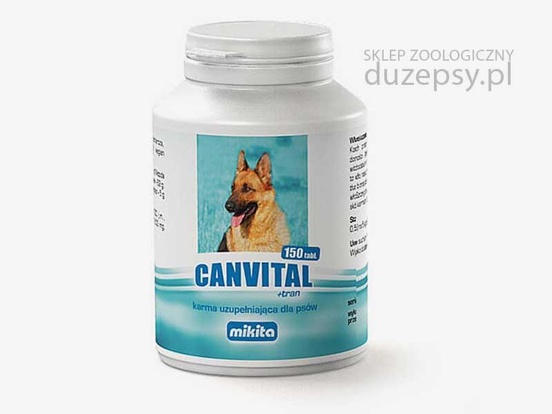 Canvital tran na skórę i sierść dla psa; witaminy na sierść dla psa; tran dla psów; witaminy i minerały dla psów; drożdże dla psów; mieszanka witaminowa dla psów; peraparat na sierść dla psa; witaminy dla psów; sklep zoologiczny internetowy; DuzePsy.pl