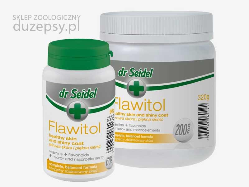 Flawitol zdrowa skóra i sierść dla psów dr Seidel; witaminy na sierść dla psów; Flawitol na sierść dla psa tanio; preparaty witaminowe na sierść dla psów; witaminy i minerały na sierść dla psa; tabletki na sierść dla psa; co na sierść dla psa; tabletki dla psów z biotyną; sklep zoologiczny; DuzePsy.pl