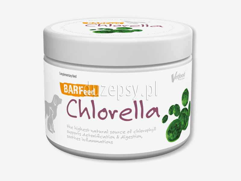 BARFeed Chlorella; suplement diety BARF dla psów; chlorella dla psa; suplement naturalnej diety dla psów; suplementy dla psów; wzmacniajacy preparat dla psów; odżywki dla psów dużych ras; preparaty odżywcze dla psa; preparaty na sierść dla psa; preparaty na krążenie dla psów; odżywki dla dużego psa; sklep zoologiczny internetowy; sklep zoologiczny online; duzepsy.pl