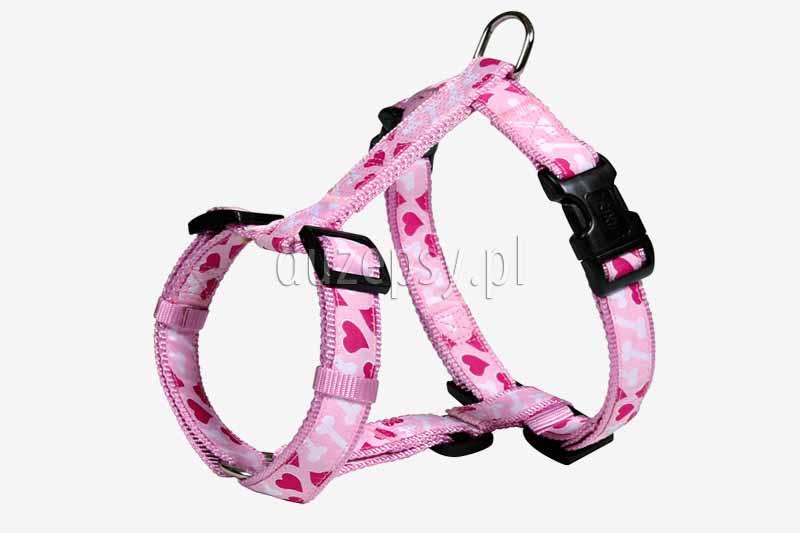 Szelki spacerowe dla psa różowe MODERN ART ROSE HEART Trixie do 75 cm. Szelki spacerowe dla psa. Wygodne szelki dla psa. Rózowe szelki dla psa. Szelki dla yorka różowe. Szelki dla psa tanio. Szelki dla labradora oferuje internetowy sklep zoologiczny DuzePsy.pl