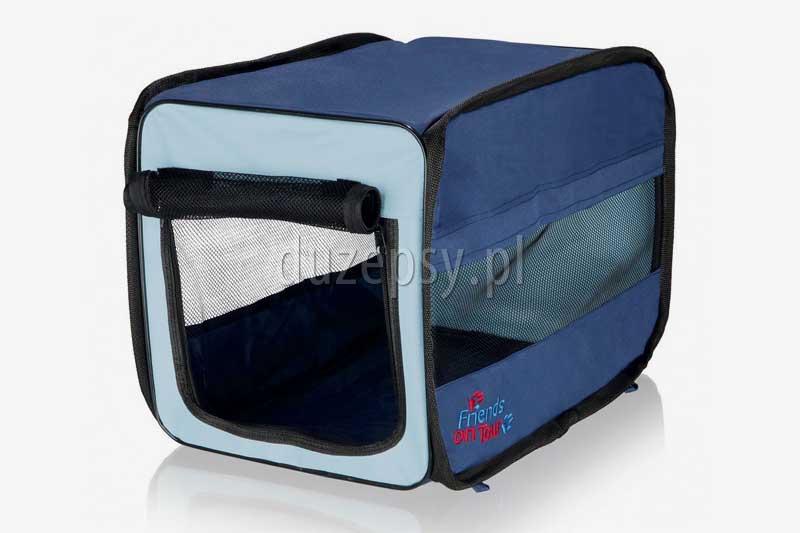 Buda transporter materiałowy dla psów lub kotów składany TWISTER Trixie. Przenośna buda transporter dla psów i kotów