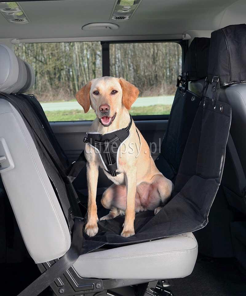 Duża mata samochodowa dla psa z ochroną na zagłówki. Trixie mata samochodowa dla psa. Mata ochronna do samochodu. Maty dla psa do samochodu. Pokrowiec do przewozu psa, sklep zoologiczny internetowy, sklep zoologiczny online, akcesoria dla psów, akcesoria dla psa, duzepsy.pl