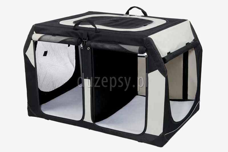 Transporter na dwa psy. Transporter dla psa do bagażnika. Transporter składany dla psa. Transportery dla psów. Transporter do bagażnika dla psa. Internetowy sklep zoologiczny DuzePsy.pl