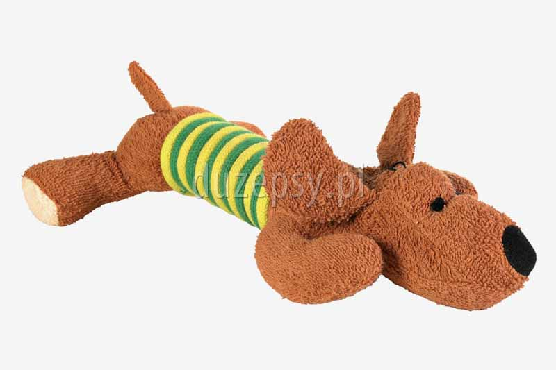 Maskotka dla psa z linką piszcząca PIES TRIXIE 28 cm. Pluszak dla psa. Pluszowa zabawka dla psa. Zabawka dla psa piszcząca, zabawki dla psa, pluszaki dla psa, zabawki pluszowe dla psa, maskotka dla psa, zabawki dla psa tanio sklep zoologiczny internetowy duzepsy.pl